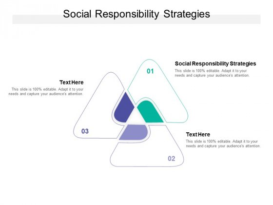 Social Responsibility Strategies Ppt PowerPoint Presentation Gallery Slides Cpb