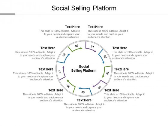 Social Selling Platform Ppt PowerPoint Presentation Gallery Demonstration Cpb