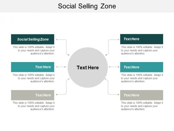 Social Selling Zone Ppt PowerPoint Presentation Model Information Cpb