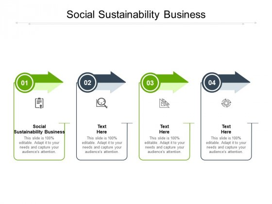 Social Sustainability Business Ppt PowerPoint Presentation Layouts Styles Cpb