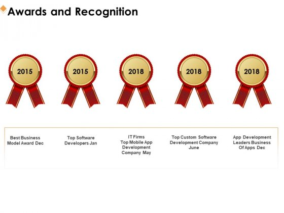 Software Development Awards And Recognition Ppt Styles Diagrams PDF
