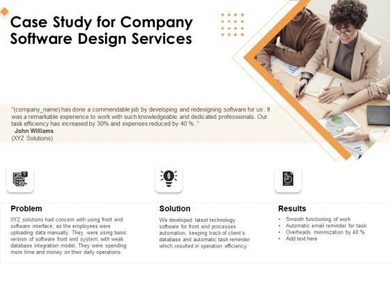 Software Development Case Study For Company Software Design Services Ppt Portfolio Backgrounds PDF
