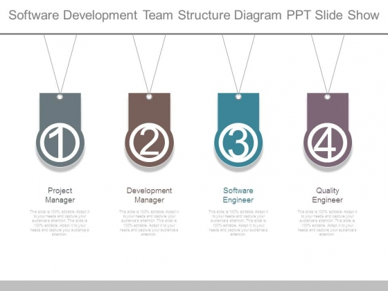 software development team structure diagram ppt slide show, Powerpoint templates