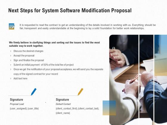 Software_Maintenance_Next_Steps_For_System_Software_Modification_Proposal_Ppt_PowerPoint_Presentation_Professional_Demonstration_PDF_Slide_1