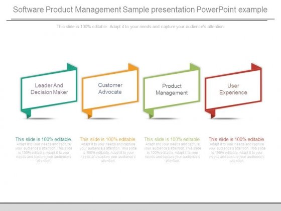 Software Product Management Sample Presentation Powerpoint Example