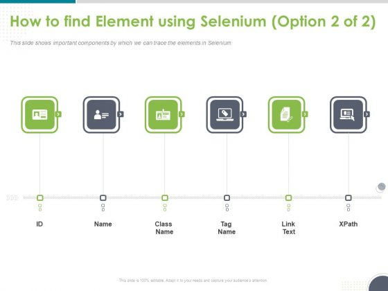 Software Testing Framework For Learners How To Find Element Using Selenium Tag Ppt PowerPoint Presentation Infographics Topics PDF