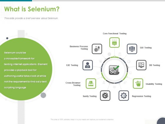 Software Testing Framework For Learners What Is Selenium Ppt PowerPoint Presentation Outline Diagrams PDF