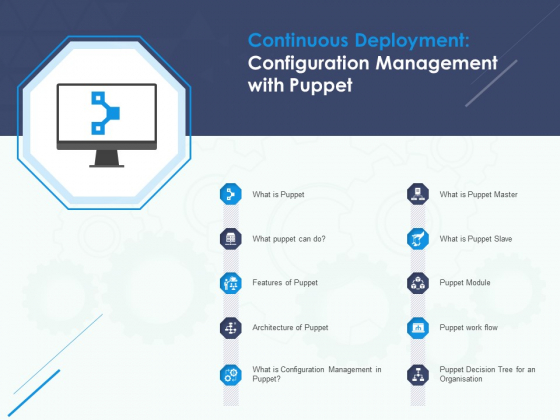Software Tool Continuous Deployment Configuration Management With Puppet Ppt Professional Smartart PDF