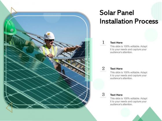 Solar Panel Installation Process Ppt PowerPoint Presentation Icon Show PDF