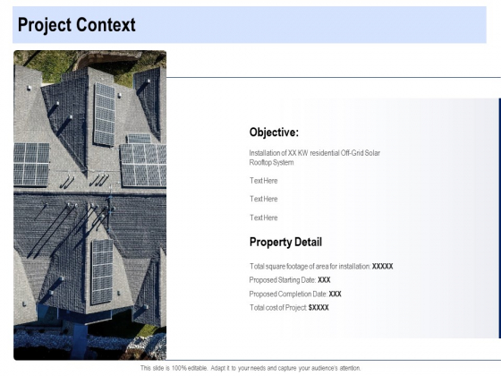 Solar Panel Maintenance Project Context Ppt Portfolio Background Image PDF
