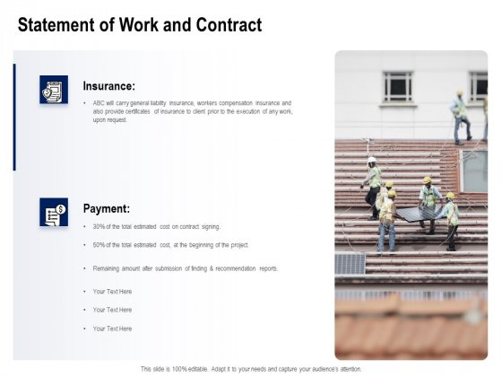 Solar Panel Maintenance Statement Of Work And Contract Ppt Layouts Graphic Tips PDF