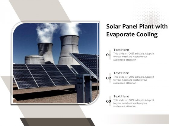Solar Panel Plant With Evaporate Cooling Ppt PowerPoint Presentation Gallery Format PDF