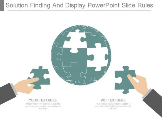 Solution Finding And Display Powerpoint Slide Rules