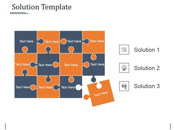 Solution Template Ppt PowerPoint Presentation Inspiration Templates