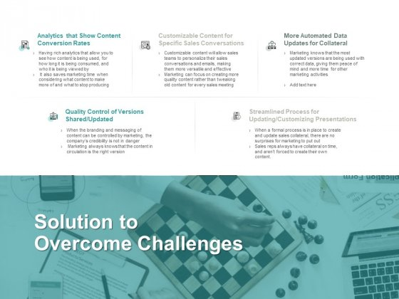 Solution To Overcome Challenges Customizing Presentations Ppt PowerPoint Presentation Icon Layouts