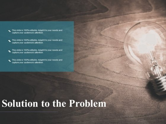 Solution To The Problem Ppt PowerPoint Presentation Styles Examples