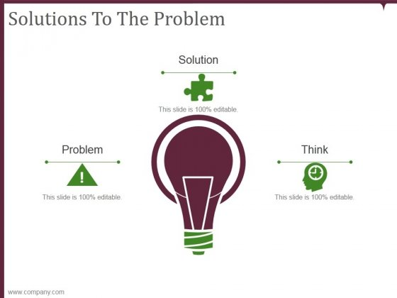 Solutions To The Problem Ppt PowerPoint Presentation Infographics