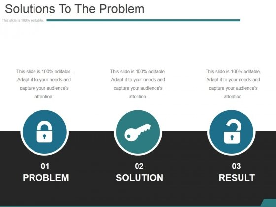 Solutions To The Problem Ppt PowerPoint Presentation Show