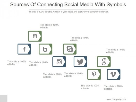 Sources Of Connecting Social Media With Symbols Ppt PowerPoint Presentation Show