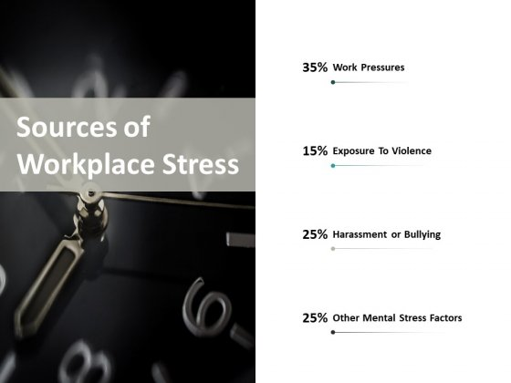 Sources Of Workplace Stress Ppt PowerPoint Presentation Icon Inspiration