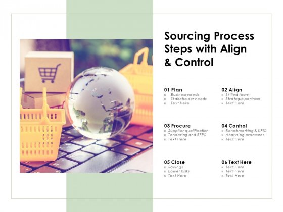 Sourcing Process Steps With Align And Control Ppt PowerPoint Presentation Styles Professional