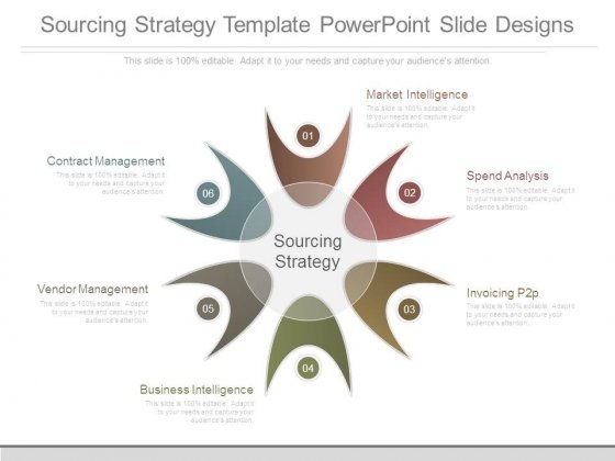 Sourcing Strategy Template Point Slide Designs 1 2