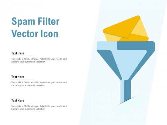 Spam Filter Vector Icon Ppt PowerPoint Presentation Pictures Show