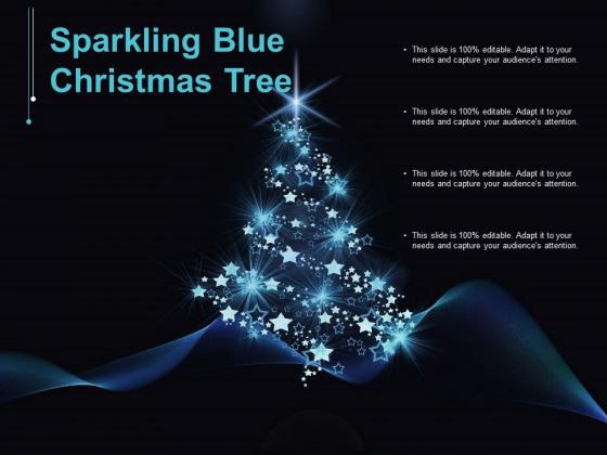 Sparkling Blue Christmas Tree Ppt PowerPoint Presentation Ideas Inspiration