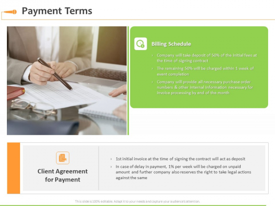 Speaking Engagement Payment Terms Ppt Infographics Mockup PDF