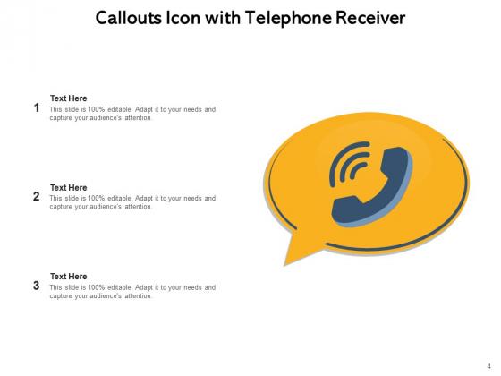 Speech_Bubble_Communication_Customer_Attention_Telephone_Receiver_Ppt_PowerPoint_Presentation_Complete_Deck_Slide_4