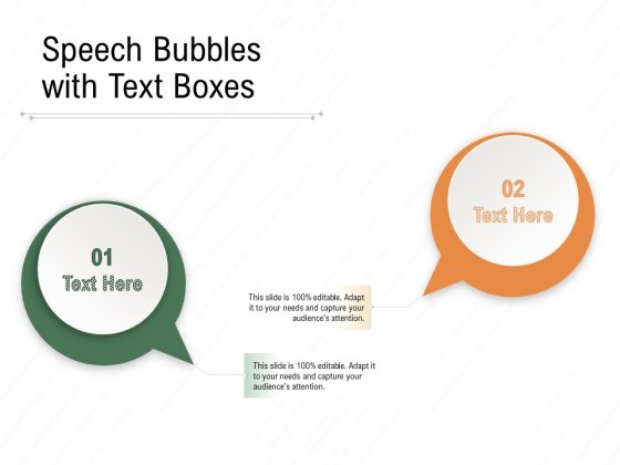 Speech Bubbles With Text Boxes Ppt PowerPoint Presentation Infographics Designs