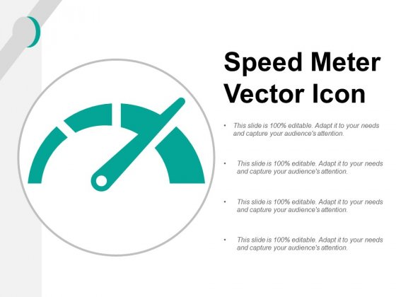 Speed Meter Vector Icon Ppt Powerpoint Presentation Model Inspiration