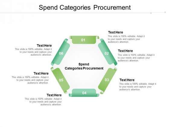 Spend Categories Procurement Ppt PowerPoint Presentation Styles Samples Cpb