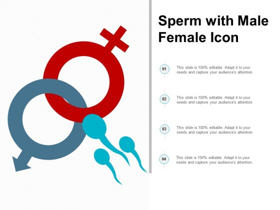 Sperm With Male Female Icon Ppt Powerpoint Presentation Infographics Background Image