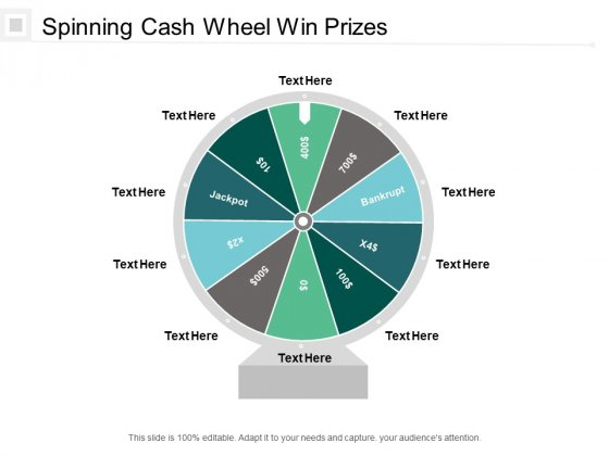 Spinning Cash Wheel Win Prizes Ppt PowerPoint Presentation Professional Slide Download Cpb