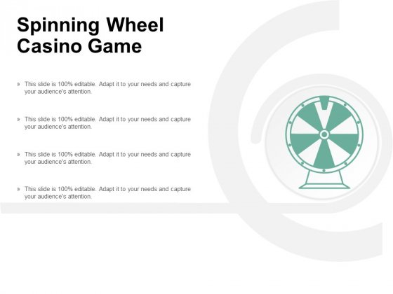 Spinning Wheel Casino Game Ppt PowerPoint Presentation Styles Format Ideas Cpb