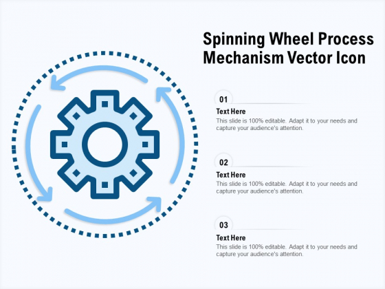 Spinning Wheel Process Mechanism Vector Icon Ppt PowerPoint Presentation Icon Tips