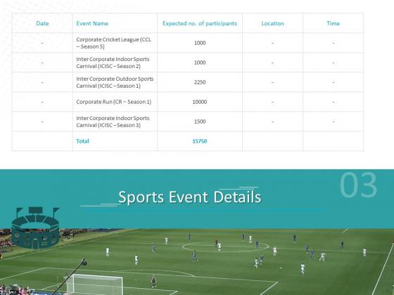 Sponsor Brands In Sports Event Details Ppt Slides Microsoft PDF