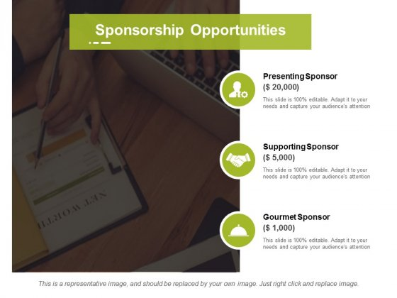 Sponsorship Opportunities Ppt PowerPoint Presentation Summary Example