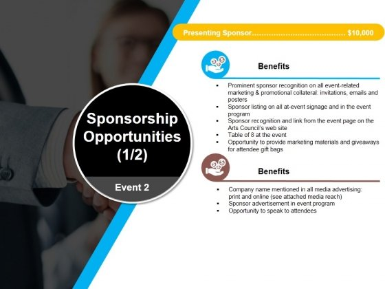 Sponsorship Opportunities Template 1 Ppt PowerPoint Presentation Model