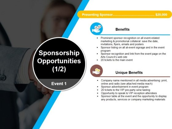 Sponsorship Opportunities Template 2 Ppt PowerPoint Presentation Slides Design Ideas