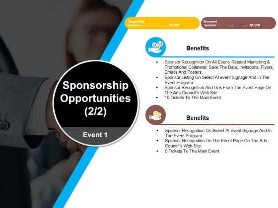 Sponsorship Opportunities Template 4 Ppt PowerPoint Presentation Show Gallery