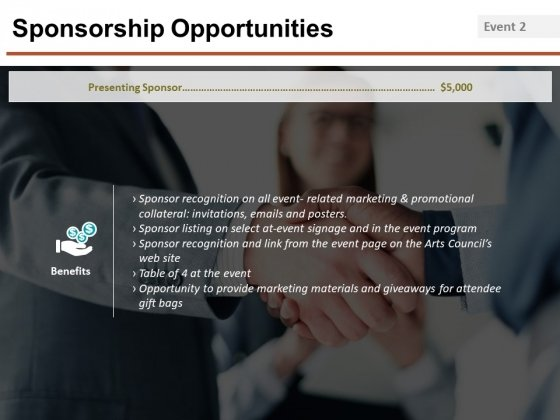 Sponsorship Opportunities Template 5 Ppt PowerPoint Presentation Infographics Portfolio