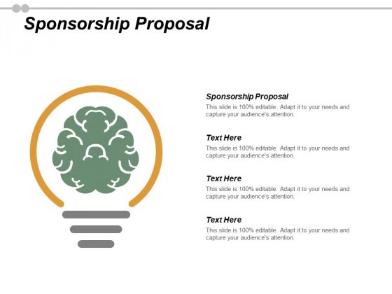 Sponsorship Proposal Ppt PowerPoint Presentation Layouts Grid Cpb