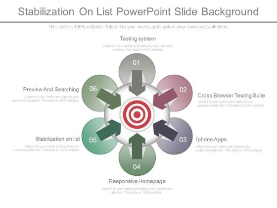 Stabilization On List Powerpoint Slide Background