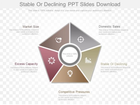 Stable Or Declining Ppt Slides Download - PowerPoint Templates