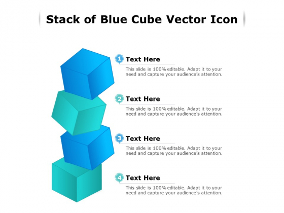 Stack Of Blue Cube Vector Icon Ppt PowerPoint Presentation File Format PDF