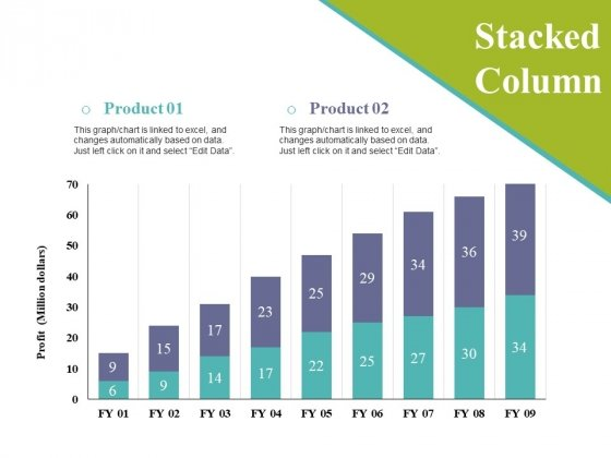 Stacked Column Ppt PowerPoint Presentation Styles Sample