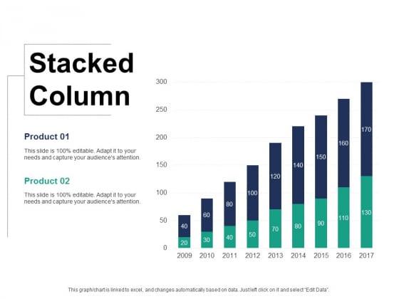 Stacked Column Ppt PowerPoint Presentation Summary Example