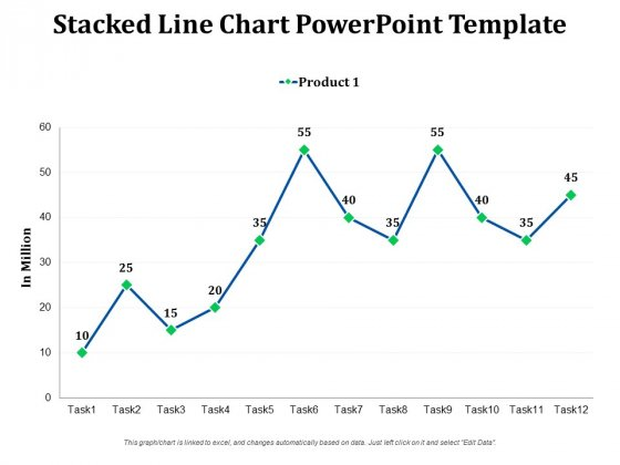 Stacked Line Chart Free PowerPoint Slide